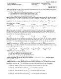 Đề Thi Đại Học Khối A, A1  Vật Lý 2013 - Phần 7 - Đề 5