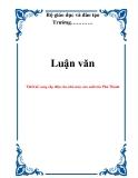 Luận văn đề tài : Thiết kế cung cấp điện cho nhà máy sản xuất tôn Phú Thành
