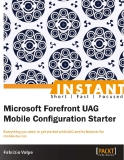 Instant Microsoft Forefront UAG  Mobile Configuration Starter