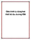 Giáo trình tự động hoá thiết kế cầu đường VBA