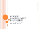 Windows communication foundation -WCF