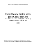 Make Money Online whith john chow dot com