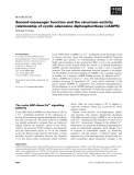 Báo cáo khoa học:  Second messenger function and the structure–activity relationship of cyclic adenosine diphosphoribose (cADPR)