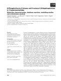 Báo cáo khoa học: 6-Phosphofructo-2-kinase and fructose-2,6-bisphosphatase in Trypanosomatidae Molecular characterization, database searches, modelling studies and evolutionary analysis