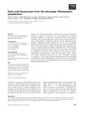 Báo cáo khoa học: Fatty acid desaturases from the microalga Thalassiosira pseudonana