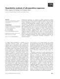 Báo cáo khoa học: Quantitative analysis of ultrasensitive responses