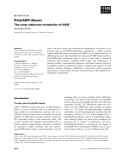Báo cáo khoa học:  Poly(ADP-ribose) The most elaborate metabolite of NAD+ Alexander Burkle