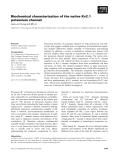 Báo cáo khoa học: Biochemical characterization of the native Kv2.1 potassium channel