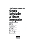 Osmotic Dehydration and Vacuum Impregnation