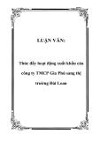 Luận văn đề tài :  Thúc đẩy hoạt động xuất khẩu của công ty TMCP Gia Phú sang thị trường Đài Loan