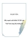 LUẬN VĂN:  Đẩy mạnh xuất khẩu TCMN của Việt Nam sang thị trường EU