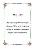 Tiểu luận: Một số giải pháp nhằm mở rộng và nâng cao chất lượng tín dụng trung dài hạn tại Ngân hàng Thương mại Cổ phần Kỹ thương Việt Nam