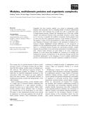 Báo cáo khoa học: Modules, multidomain proteins and organismic complexity
