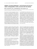 Báo cáo khoa học:  Inhibitors of protein phosphatase 1 and 2A decrease the level of tubulin carboxypeptidase activity associated with microtubules