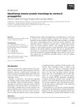 Báo cáo khoa học: Identifying remote protein homologs by network propagation