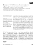Báo cáo khoa học: Response of the Pacific oyster Crassostrea gigas to hypoxia exposure under experimental conditions