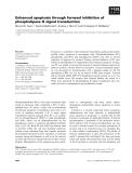 Báo cáo khoa học: Enhanced apoptosis through farnesol inhibition of phospholipase D signal transduction