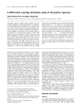 Báo cáo khoa học: A differential scanning calorimetry study of tetracycline repressor