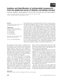 Báo cáo khoa học: Isolation and identification of antimicrobial components from the epidermal mucus of Atlantic cod (Gadus morhua)