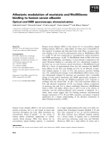 Báo cáo khoa học: Allosteric modulation of myristate and Mn(III)heme binding to human serum albumin Optical and NMR spectroscopy characterization
