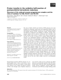 Báo cáo khoa học: Proton transfer in the oxidative half-reaction of pentaerythritol tetranitrate reductase Structure of the reduced enzyme-progesterone complex and the roles of residues Tyr186, His181 and His184