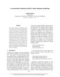 "Báo cáo khoa học: ""An exponential translation model for target language morphology"""