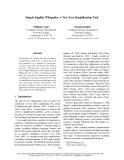 "Báo cáo khoa học: ""Simple English Wikipedia: A New Text Simplification Task"""