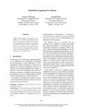 """Báo cáo khoa học: """"Classifying Arguments by Scheme"""""""