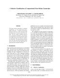 "Báo cáo khoa học: ""Collective Classification of Congressional Floor-Debate Transcripts"""
