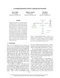 "Báo cáo khoa học: ""Learning Dependency-Based Compositional Semantics"""