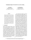 """Báo cáo khoa học: """"Evaluating the Impact of Coder Errors on Active Learning"""""""