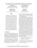 "Báo cáo khoa học: ""Incremental Syntactic Language Models for Phrase-based Translation"""