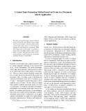 """Báo cáo khoa học: """"A Latent Topic Extracting Method based on Events in a Document and its Application"""""""