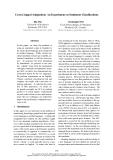 "Báo cáo khoa học: ""Cross Lingual Adaptation: An Experiment on Sentiment Classifications"""