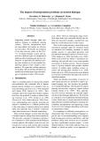 "Báo cáo khoa học: ""The impact of interpretation problems on tutorial dialogue"""