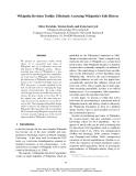 "Báo cáo khoa học: ""Efficiently Accessing Wikipedia's Edit History"""