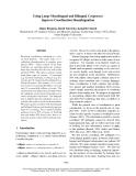 "Báo cáo khoa học: ""Using Large Monolingual and Bilingual Corpora to Improve Coordination Disambiguation"""