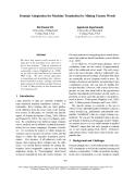 "Báo cáo khoa học: ""Domain Adaptation for Machine Translation by Mining Unseen Words"""