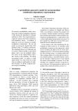 "Báo cáo khoa học: ""A probabilistic generative model for an intermediate constituency-dependency representation"""