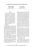 "Báo cáo khoa học: ""Combining data and mathematical models of language change"""