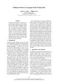 "Báo cáo khoa học: ""Intelligent Selection of Language Model Training Data"""
