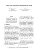 "Báo cáo khoa học: ""Efficient Online Locality Sensitive Hashing via Reservoir Counting"""