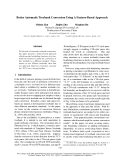 "Báo cáo khoa học: ""Better Automatic Treebank Conversion Using A Feature-Based Approach"""
