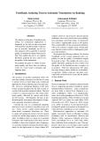 "Báo cáo khoa học: ""TrustRank: Inducing Trust in Automatic Translations via Ranking"""