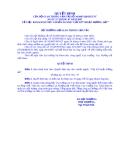 QUYẾT ĐỊNH CỦA BỘ GIAO THÔNG VẬN TẢI SỐ 34/2007/QĐ-BGTVT