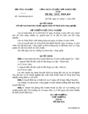 QUYẾT ĐỊNH Về việc ban hành tiêu chuẩn ngành Sành sứ Thuỷ tinh