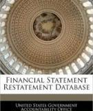 Financial Restatement Database