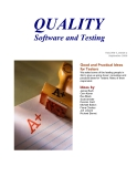 QUALITY Software and Testing