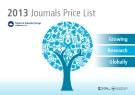 2013 Journals Price List