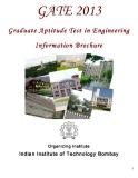 GATE 2013 Graduate Aptitude Test in Engineering    Information Brochure